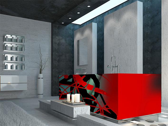 Sie sehen eine Wannengestaltung im Design von Free Form° 6.